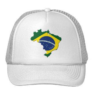 Brazil map mesh hats