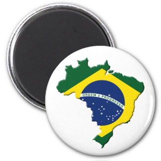 Brazil map refrigerator magnets