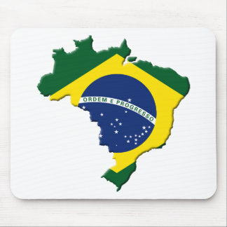 Brazil map mouse pad
