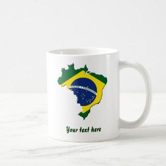 Brazil map coffee mug