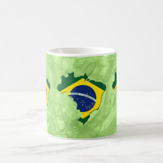 Brazil map coffee mugs