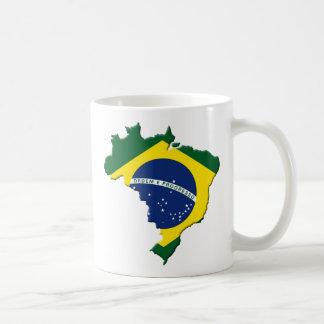 Brazil map mug
