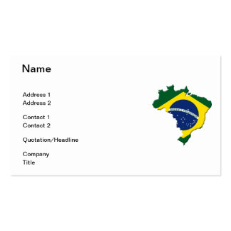 Brazil map pack of standard business cards
