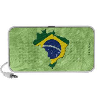 Brazil map travelling speakers