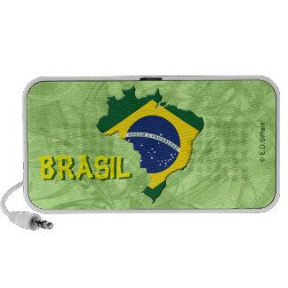 Brazil map travelling speaker