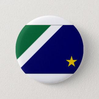 Brazil Mato Grosso do Sul Flag 6 Cm Round Badge