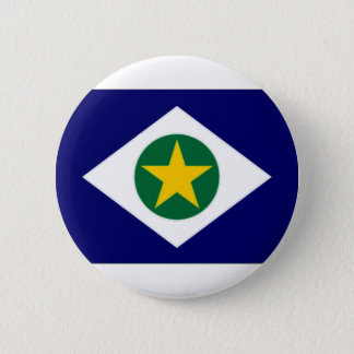 Brazil Mato Grosso Flag 6 Cm Round Badge