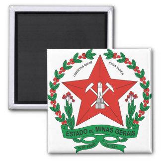 Brazil Minas Gerais Coat of Arms detail Square Magnet