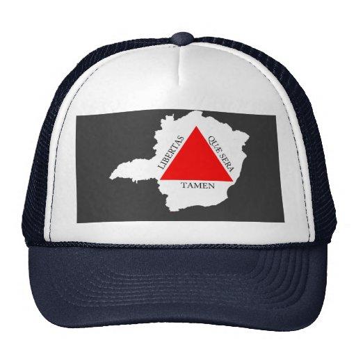 BRAZIL MINAS GERAIS flag map Trucker Hats