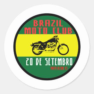 Brazil motion club classic round sticker