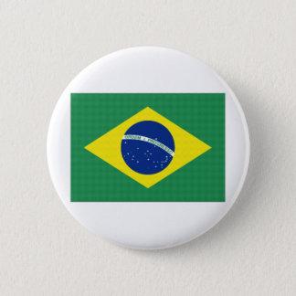 Brazil National Flag 6 Cm Round Badge