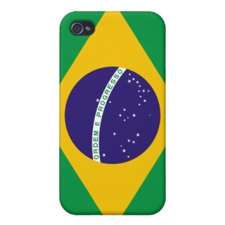 Brazil National Flag Cover For iPhone 4