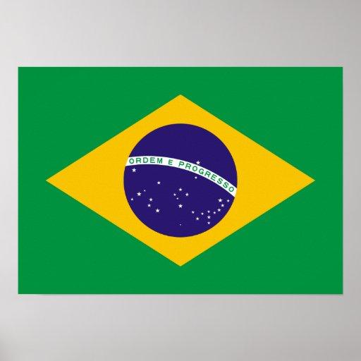 Brazil National Flag Posters