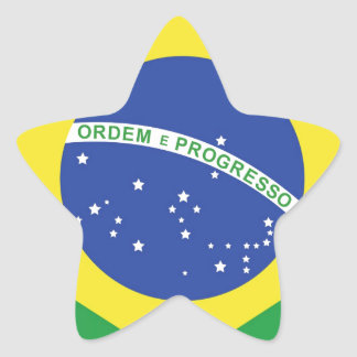 Brazil National Flag Star Sticker