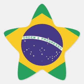 Brazil National Flag Star Sticker