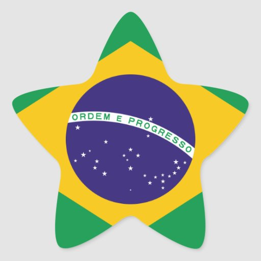 Brazil National Flag Stickers