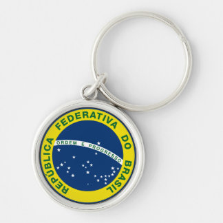 brazil national seal key ring