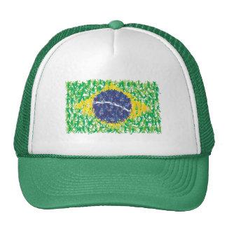 Brazil national soccer flag (Futebol Brasileiro), Trucker Hat