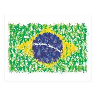 Brazil national soccer flag (Futebol Brasileiro), Post Card