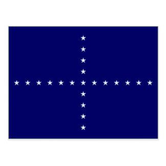 Brazil Naval Jack Flag Postcard