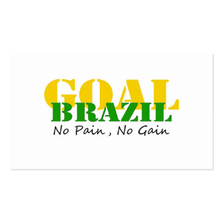Brazil - No Pain No Gain Pack Of Standard Business Cards