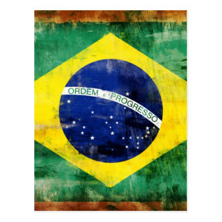 Brazil old flag post card