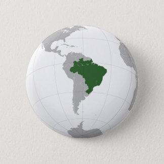 Brazil (orthographic projection) 6 cm round badge