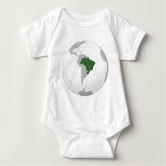 Brazil (orthographic projection) baby bodysuit