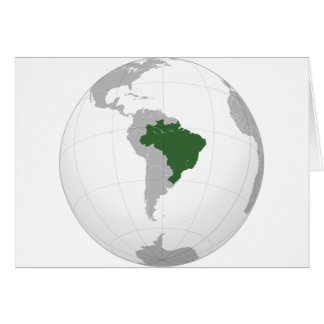 Brazil (orthographic projection) card