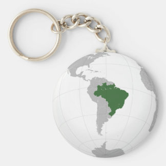 Brazil (orthographic projection) key ring