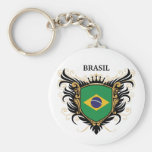 Brazil [personalise] basic round button key ring
