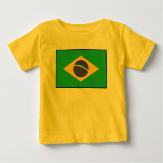 Brazil Plain Flag Baby T-Shirt