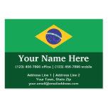 Brazil Plain Flag Business Card Templates