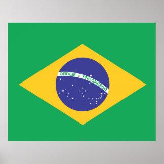 Brazil Plain Flag Poster