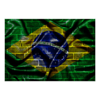 Brazil poster in the wall