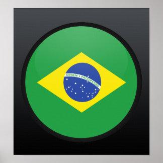 Brazil quality Flag Circle Poster