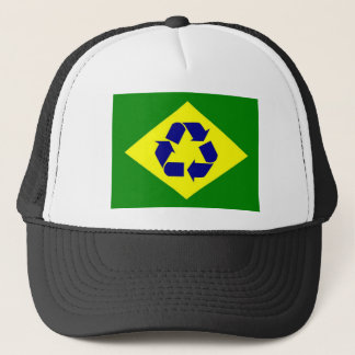 Brazil recycle flag hat