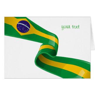 brazil ribbon flag card
