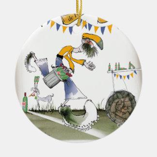 brazil right wing footballer christmas ornament