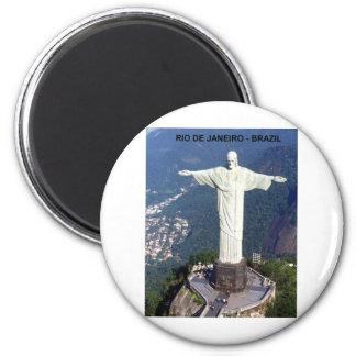 Brazil Rio De Janeiro christ (St.K.) 6 Cm Round Magnet
