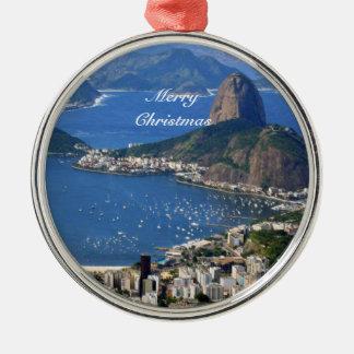 Brazil: Rio de Janeiro landscape - Merry Christmas Christmas Ornament