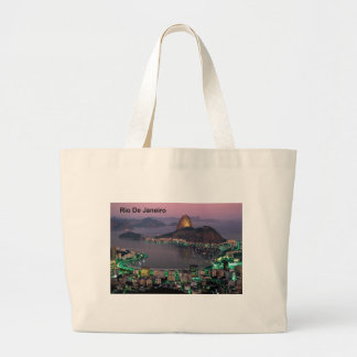 Brazil Rio De Janeiro Sugar Loaf Mountain (St.K.) Large Tote Bag
