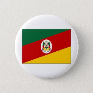 Brazil Rio Grande do Sul Flag 6 Cm Round Badge