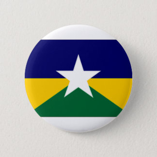 Brazil Rondonia Flag 6 Cm Round Badge