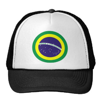 Brazil Round Flag Mesh Hats