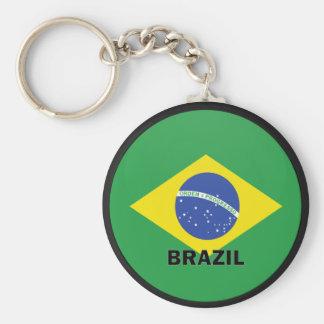 Brazil Roundel quality Flag Basic Round Button Key Ring