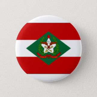 Brazil Santa Catarina Flag 6 Cm Round Badge