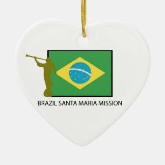 BRAZIL SANTA MARIA MISSION LDS CHRISTMAS ORNAMENT