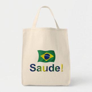 Brazil Saude! Grocery Tote Bag