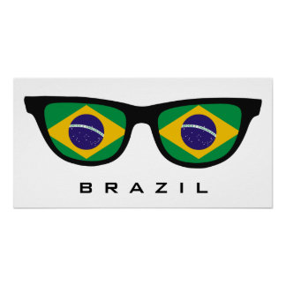 Brazil Shades custom text & color poster